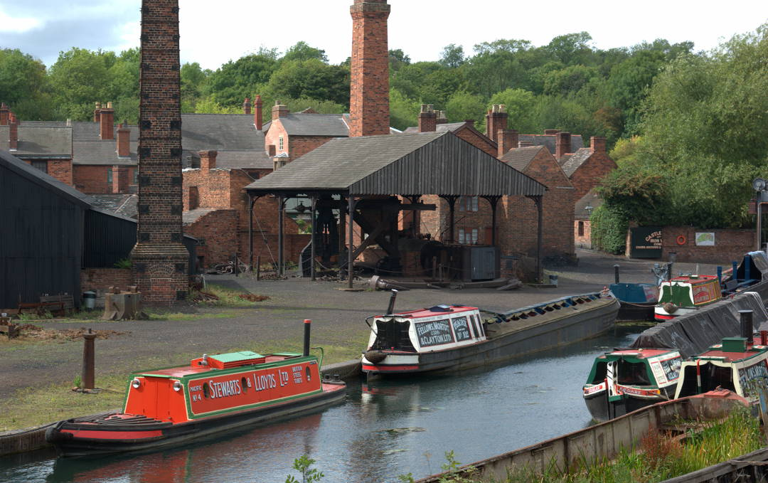 Canal boats in the Black Country Museum