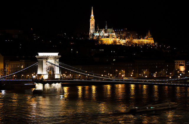 Night View of the Danube in Budapest