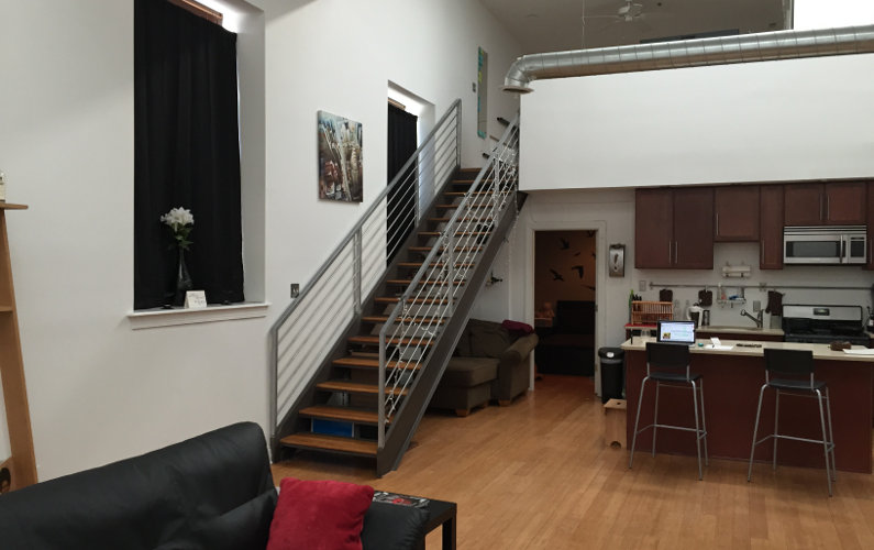 Experience Philadelphia from This Spacious Penthouse Loft Near the Heart of the City