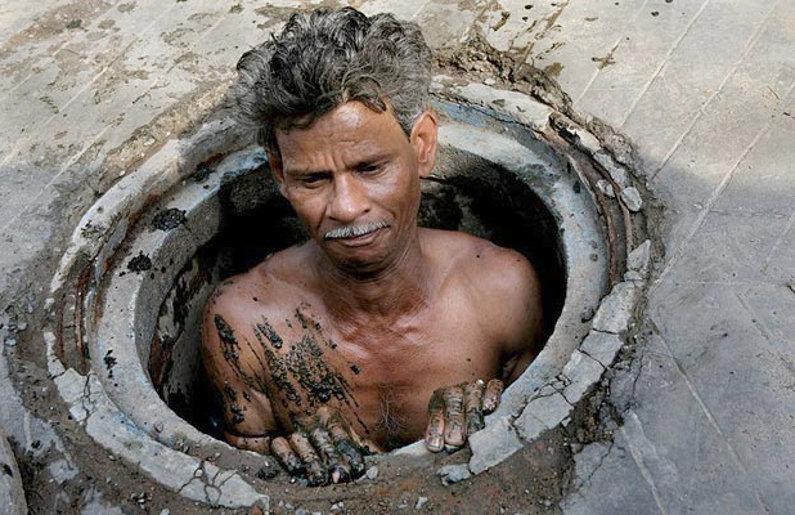 Delhi sewer cleaner