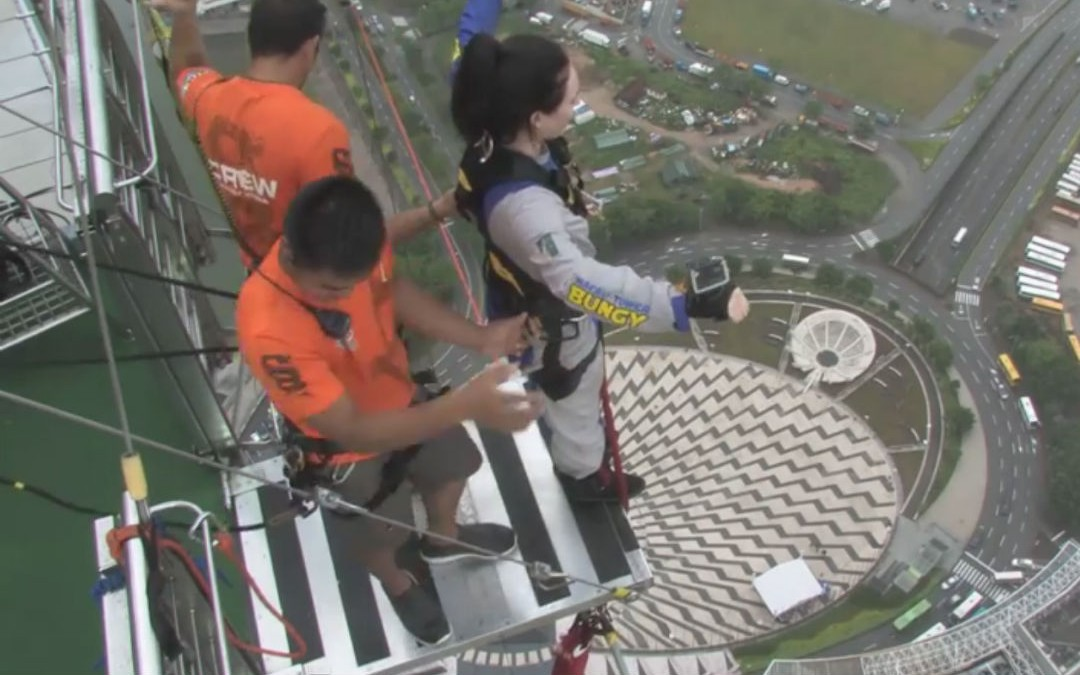 Views From the World's Highest Bungy Jump in Macau, China