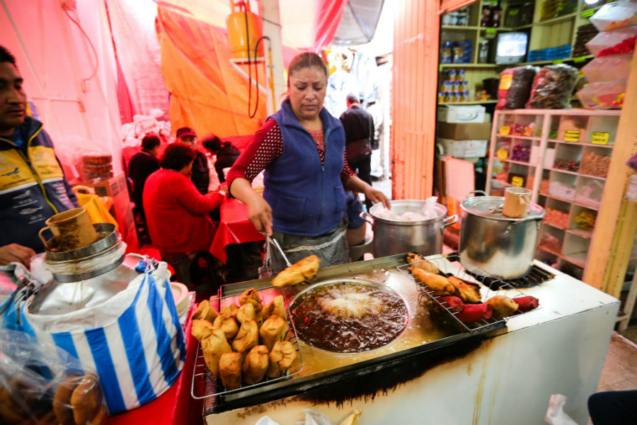 Street tamales in Mexico City